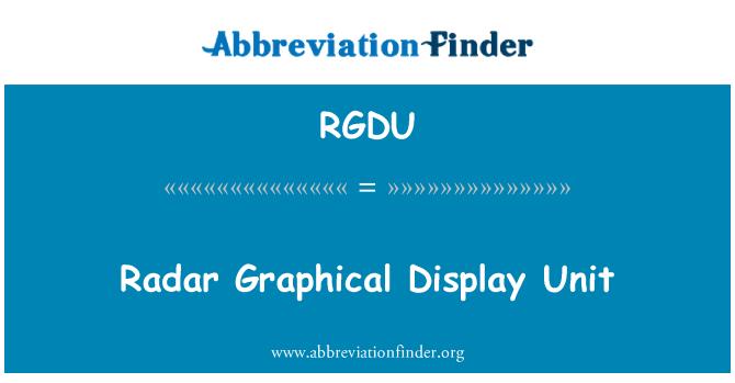 RGDU: Radar Graphical Display Unit