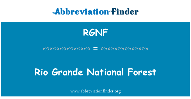 RGNF: Rio Grande National Forest