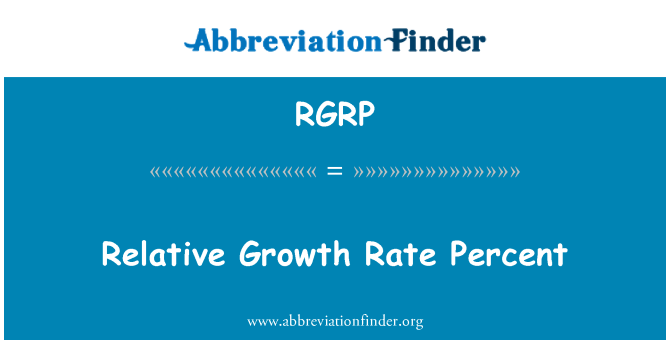 RGRP: Relative Growth Rate Percent