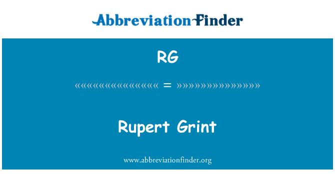 RG: Rupert Grint
