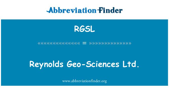 RGSL: Reynolds Geo-Sciences Ltd.