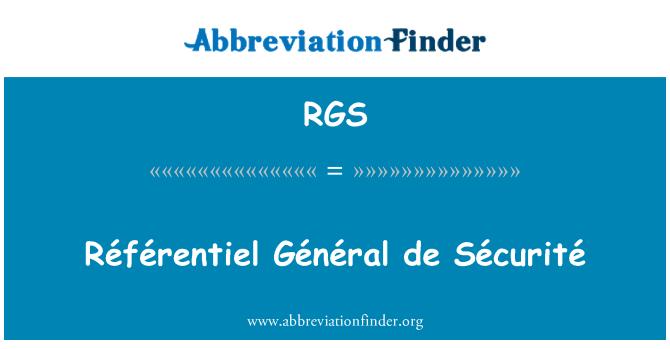 RGS: Référentiel Général de Sécurité