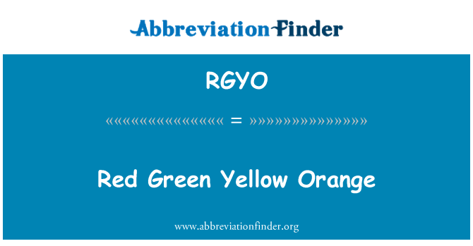 RGYO: Red Green Yellow Orange