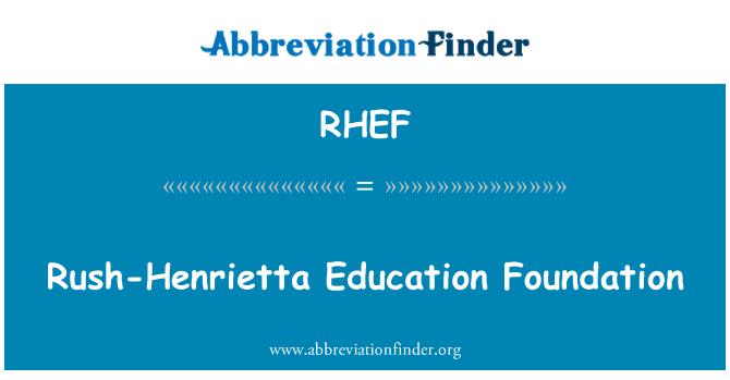 RHEF: Rush-Henrietta Education Foundation