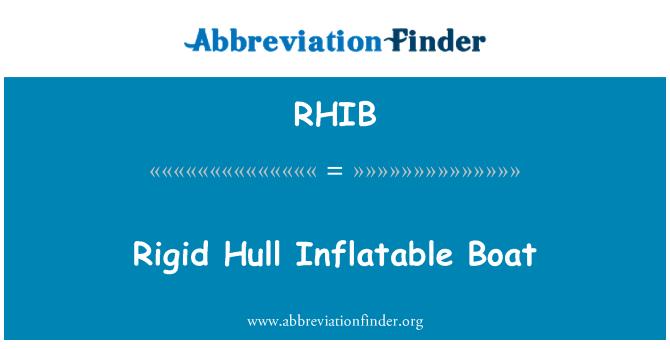 RHIB: Rigid Hull Inflatable Boat