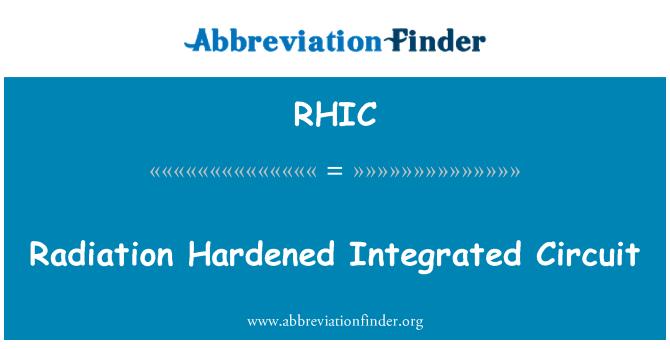 RHIC: Radyasyon entegre devre sertleştirilmiş