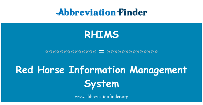 RHIMS: Red Horse Information Management System