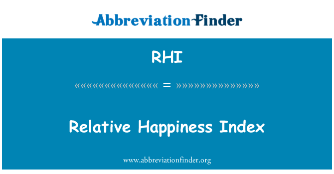 RHI: Relative Happiness Index