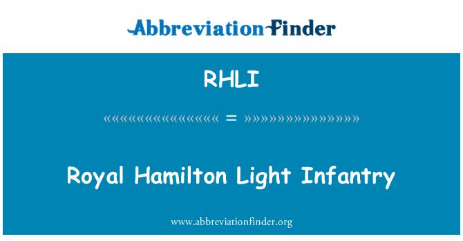 RHLI: Royal Hamilton Light Infantry