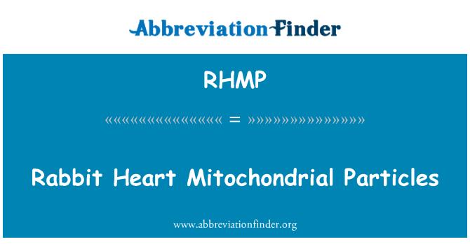 RHMP: Mitokondrial parçacıklar tavşan kalp