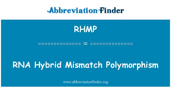 RHMP: RNA karma uyumsuzluğu polimorfizmi
