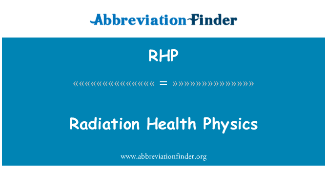 RHP: Radiation Health Physics