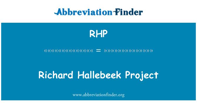 RHP: Richard Hallebeek Project