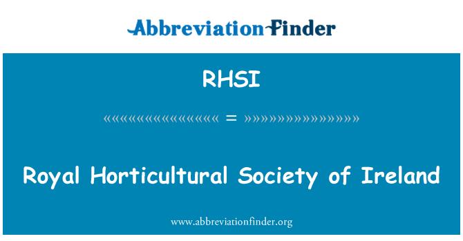 RHSI: Royal Horticultural Society of Ireland