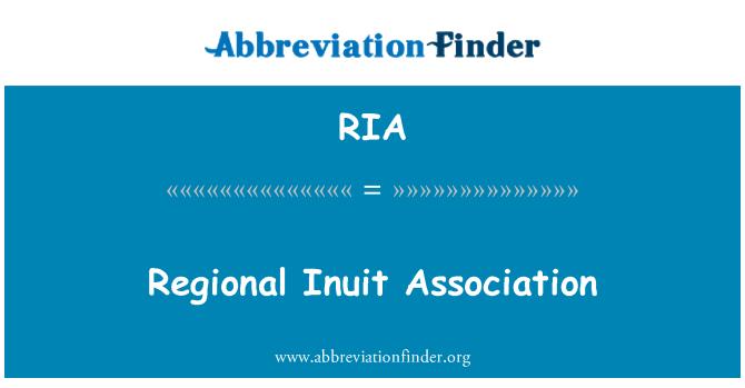 RIA: Regional Inuit Association