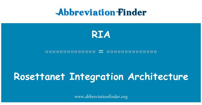 RIA: Rosettanet Integration Architecture