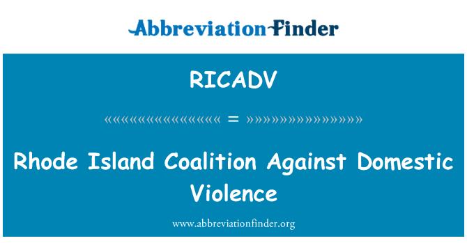 RICADV: Rhode Island coalición contra la violencia doméstica