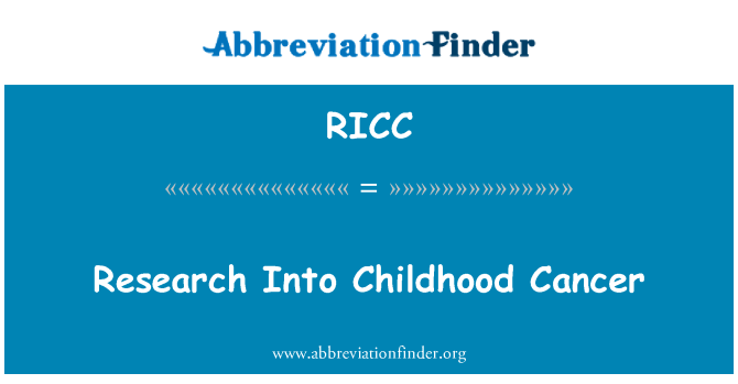 RICC: Investigación en cáncer infantil