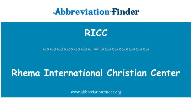 RICC: Rhema International Christian Center