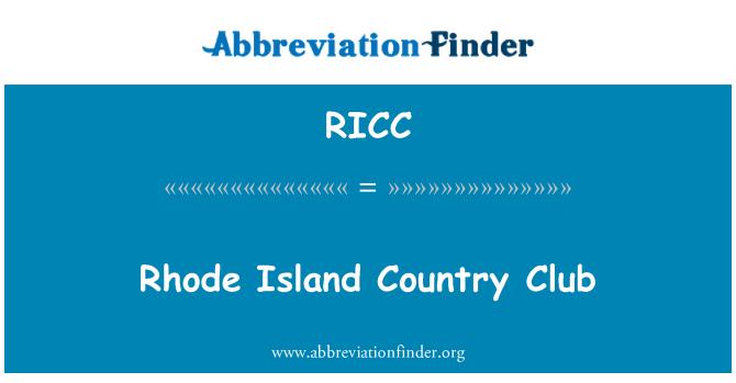 RICC: Rhode Island Country Club