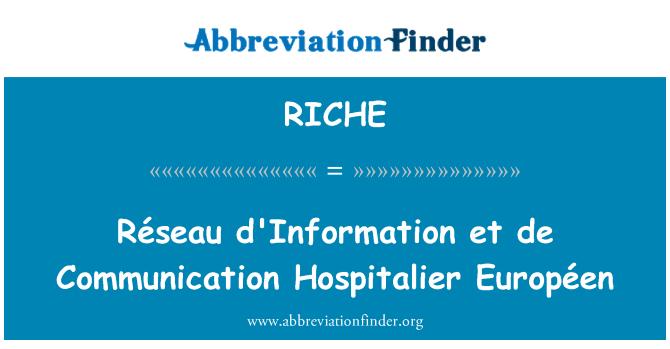 RICHE: Réseau d'Information et de Communication Hospitalier Européen