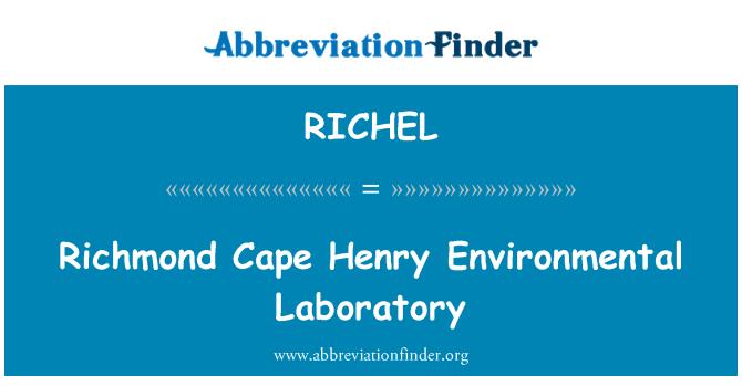 RICHEL: Richmond Cape Henry Environmental Laboratory