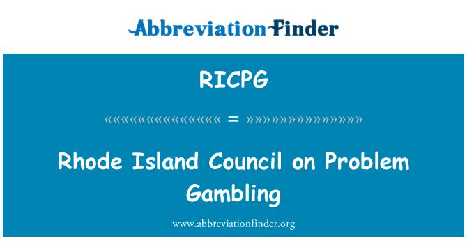 RICPG: Rhode Island Council on Problem Gambling