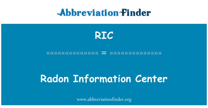 RIC: Radon Information Center