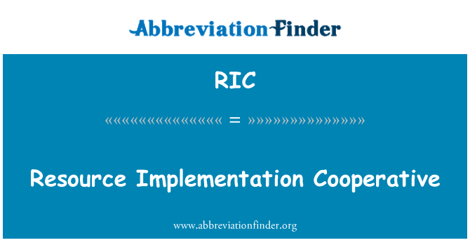 RIC: Resource Implementation Cooperative