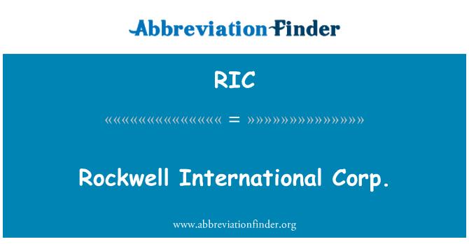 RIC: Rockwell International Corp.