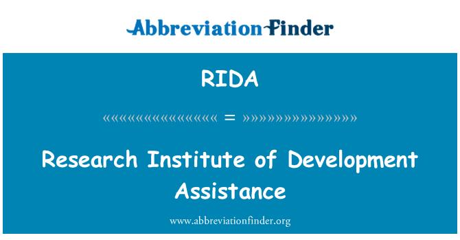 RIDA: Research Institute of Development Assistance