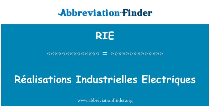 RIE: Réalisations Industrielles Electriques