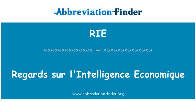 RIE: Regards sur l'Intelligence Economique