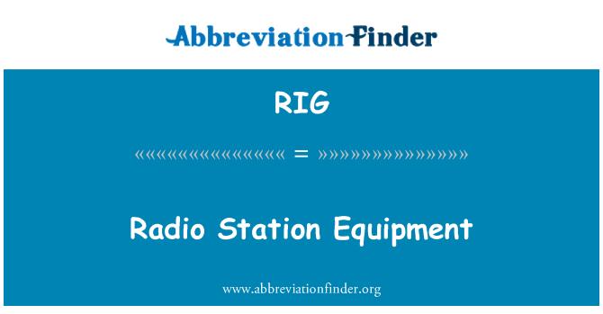 RIG: Radio Station Equipment