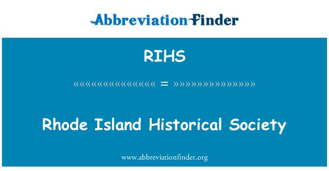 RIHS: Sociedad histórica de Rhode Island