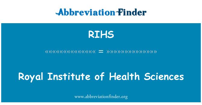 RIHS: Instituto Real de la salud Ciencias