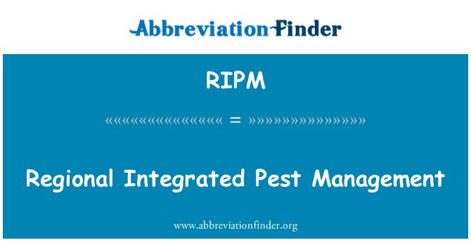 RIPM: Regional Integrated Pest Management