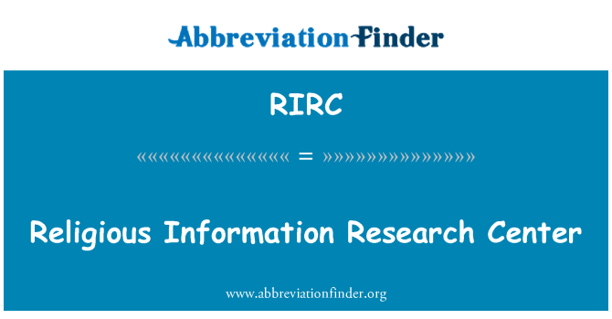RIRC: Religious Information Research Center