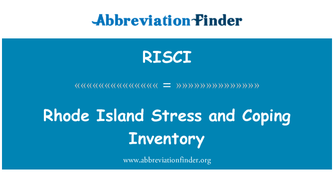 RISCI: Rhode Island Stress and Coping Inventory