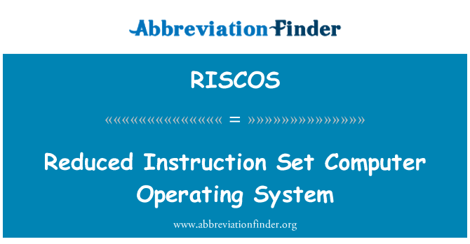 RISCOS: Reduced Instruction Set počítačový operační systém