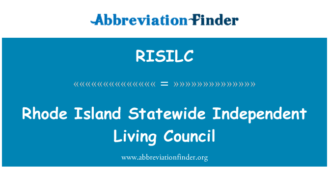 RISILC: Rhode Island Statewide Independent Living Council