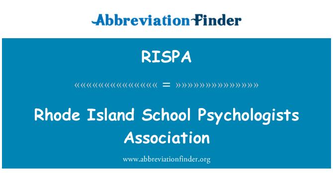 RISPA: Rhode Island School Psychologists Association