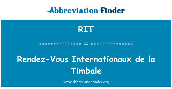 RIT: Rendez-Vous Internationaux de la Timbale