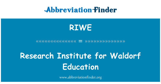 RIWE: Research Institute for Waldorf Education