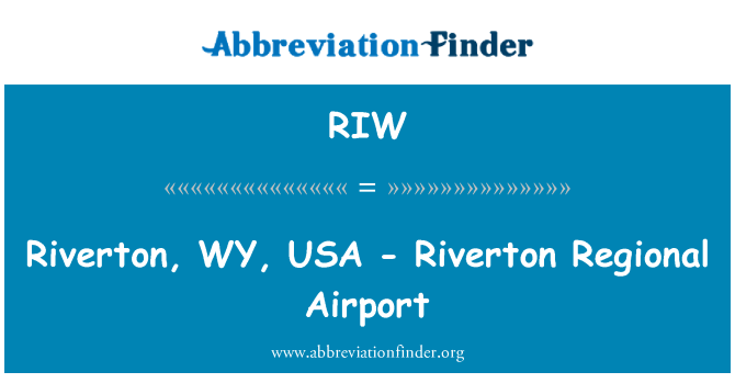 RIW: Riverton, WY, USA - Riverton Regional Airport