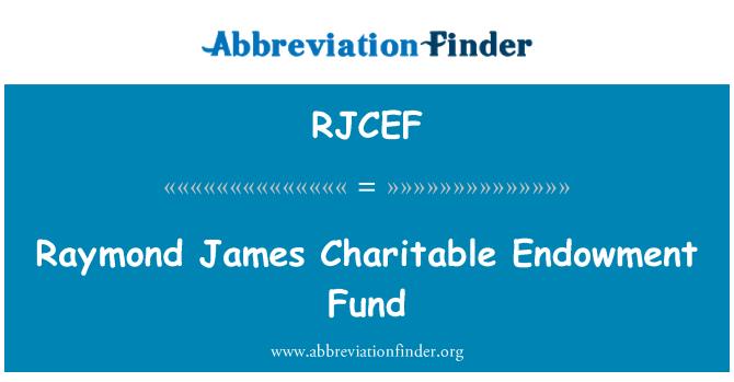RJCEF: Raymond James Charitable Endowment Fund