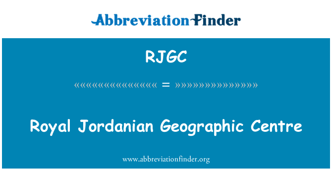RJGC: Royal Jordanian Geographic Centre