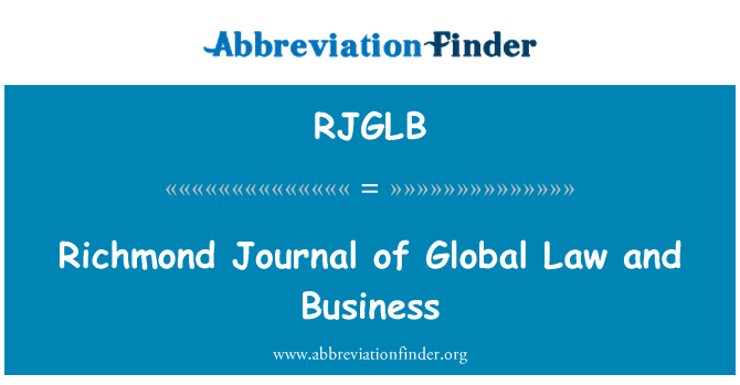 RJGLB: Richmond Journal of Global Law and Business