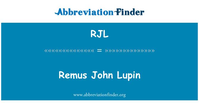 RJL: Remus John Lupin