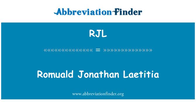 RJL: Romuald Jonathan Laetitia